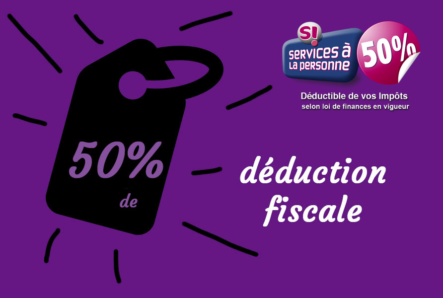 50% déduction fiscale
